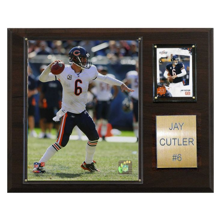 NFL 12 x 15 in. Jay Cutler Chicago Bears Player Plaque - 1215CUTLER