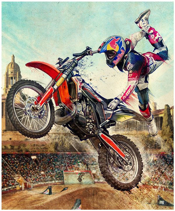 Red Bull X-Fighters | Muti | Motocross, Motorcycle art ...