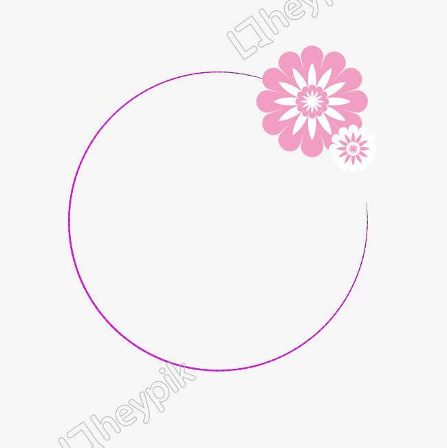 الوردي إطار دائري يوم الطفل يوم الأب الوردي زهرة الحدود لافتة ملصق خلفية النص عيد الأم عيد الحب Png وم Child Day Pink Frames Pink Flowers