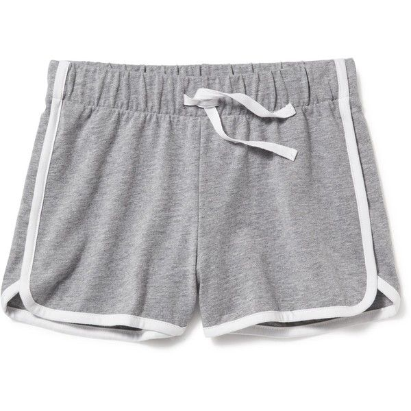 Relaxed Dolphin-Hem Shorts for Girls ($7) ❤ liked on Polyvore featuring lua clothes