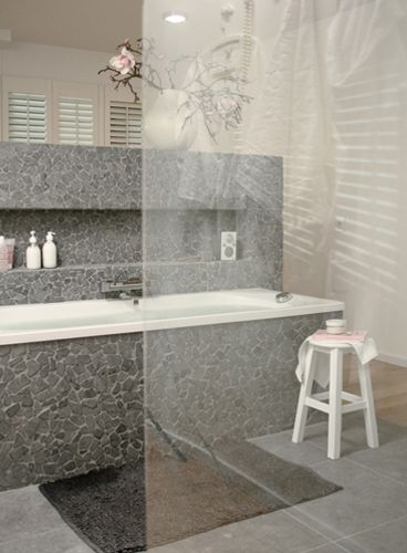 Marmer Badkamertegels ~ moderne hoekige 'pebble'stones  Decor ideas  Pinterest