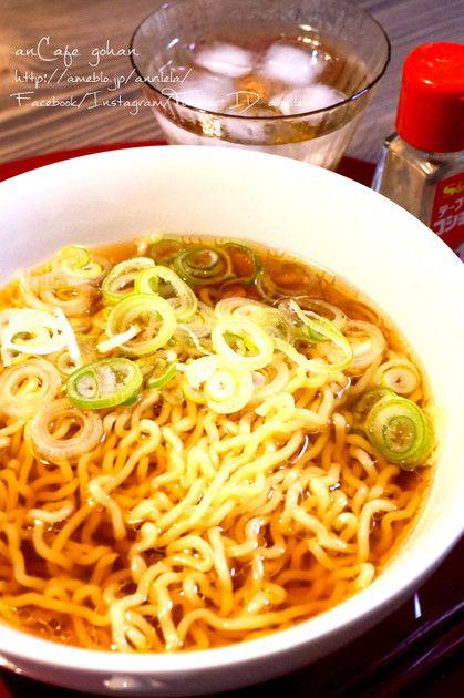 お湯で溶かすだけなのに本格的な醤油ラーメン(中華そば・支那そば風)のスープに♡*