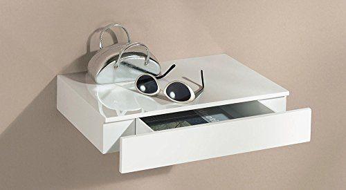 http://ift.tt/1PiX7oR Wandregal mit Schublade | Caseto | 450x250x80 mm | weiß hochglanz @best Price Incococ#