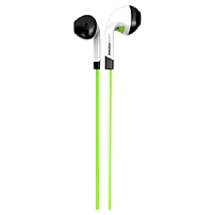 ifrogz InTone EarBuds With Mic Green - Stereo - Green - Mini-phone - Wired - 32 Ohm - 20 Hz - 20 kHz - Earbud - Binaural - In-ear - 4.10 ft Cable