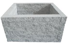 Hochbeet Bausatz aus Stein 137x112x72cm