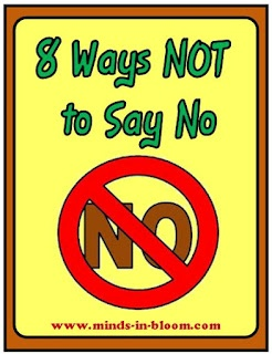 """NO"" is a show stopper. Most of the time, nothing creative, productive, or worthwhile happens after ""NO"". Of course there are times when ""NO"" is appropriate, perhaps even essential, but often parents and teachers do not stop to evaluate the situation to see if it is really one of those times. Automatically, many of us say ""NO,"" without really thinking about it. Avoid saying ""No"" with these eight suggestions"