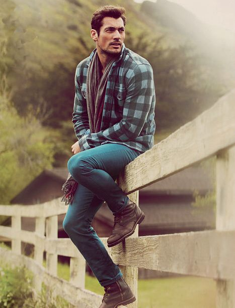 Fence-sitting serious face. | 32 Examples Of David Gandy's Best Serious Face