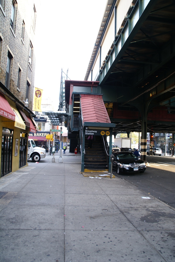 Astoria, Queens, New York subway stop on the elevated train. At the time this picture was taken, it was the N & R stop.