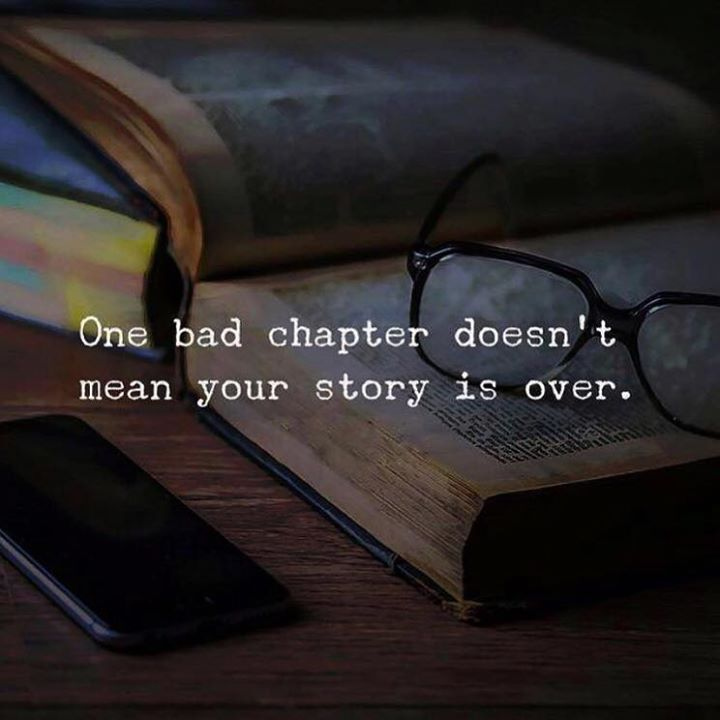 Positive Quotes :    QUOTATION – Image :    Quotes Of the day  – Description  One bad chapter..  Sharing is Power  – Don't forget to share this quote !    https://hallofquotes.com/2018/03/16/positive-quotes-one-bad-chapter/
