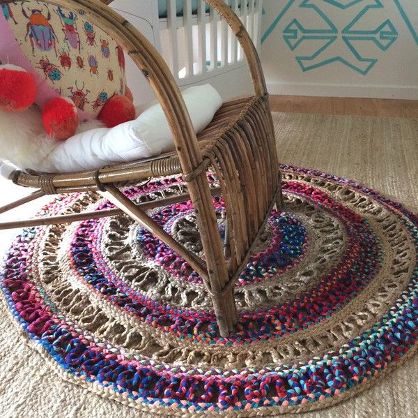 Our Boho rug sitting pretty in a boho inspired nurseryy