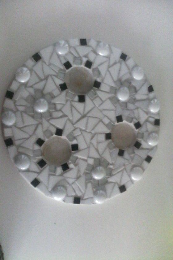 Waxinelichthouder mozaïeken