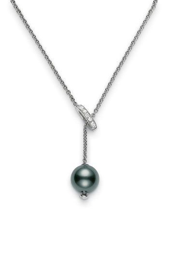 mikimoto pearls | Mikimoto 'Pearls in Motion' Black South Sea Cultured Pearl  Diamond ...