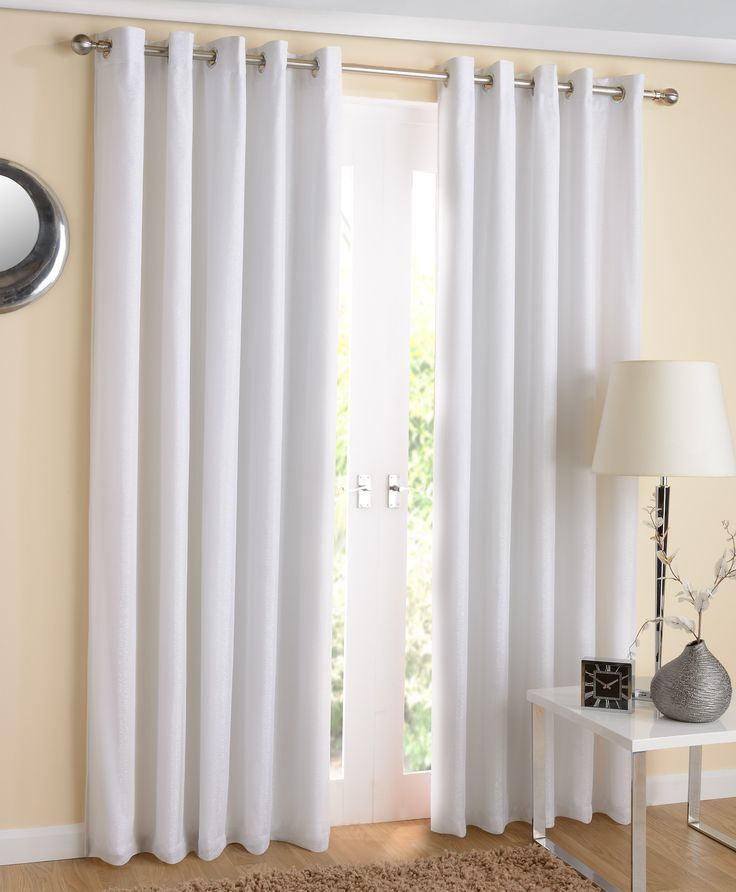 New York Eyelet Lined Voile Curtains White | Ponden Homes Part 94