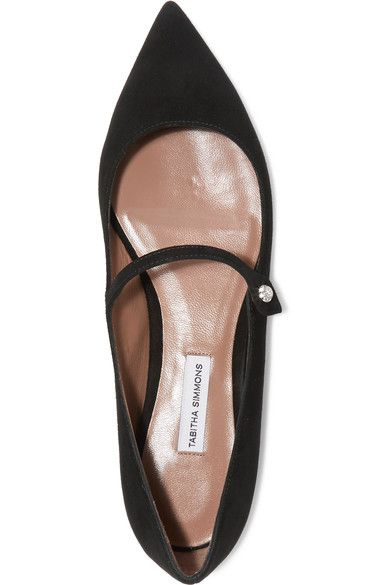 Tabitha Simmons - Hermione Suede Point-toe Flats - Black - IT39.5