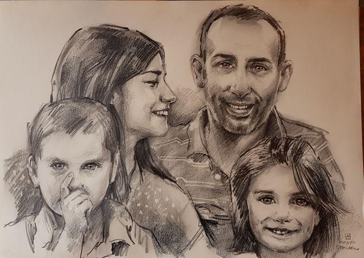 Ritratto di Famiglia | Altamiradecor, bottega d'arte di Franco Pagliarulo