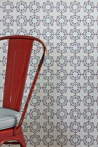 Anchor Tile Wallpaper in a Classic red, white and blue colour combination.