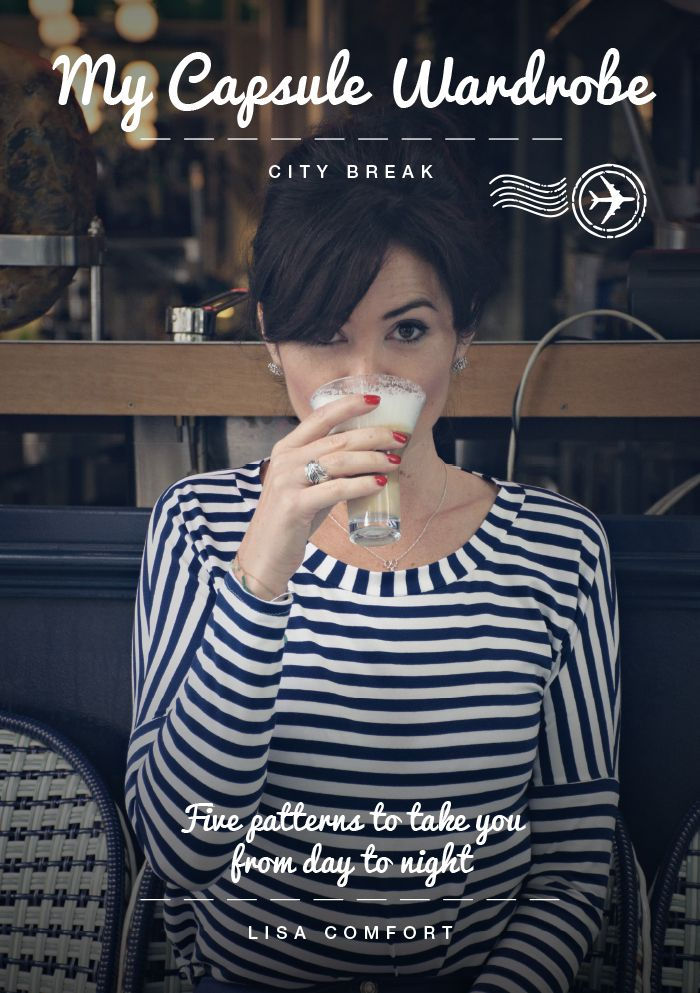 My Capsule Wardrobe: City Break eBook by Lisa Comfort   Sew Over It ::: five sewing patterns to take you from day to night in any city, featuring a denim skirt, drop-shoulder jersey top, stylish shirt dress, skinny jeans and a beautiful waterfall-front coat