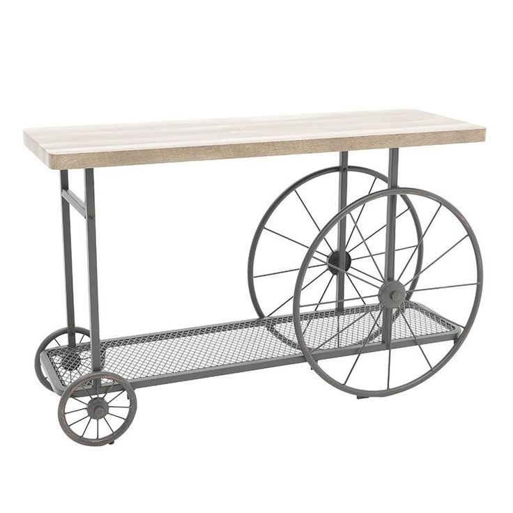 Metal Console Table - inart