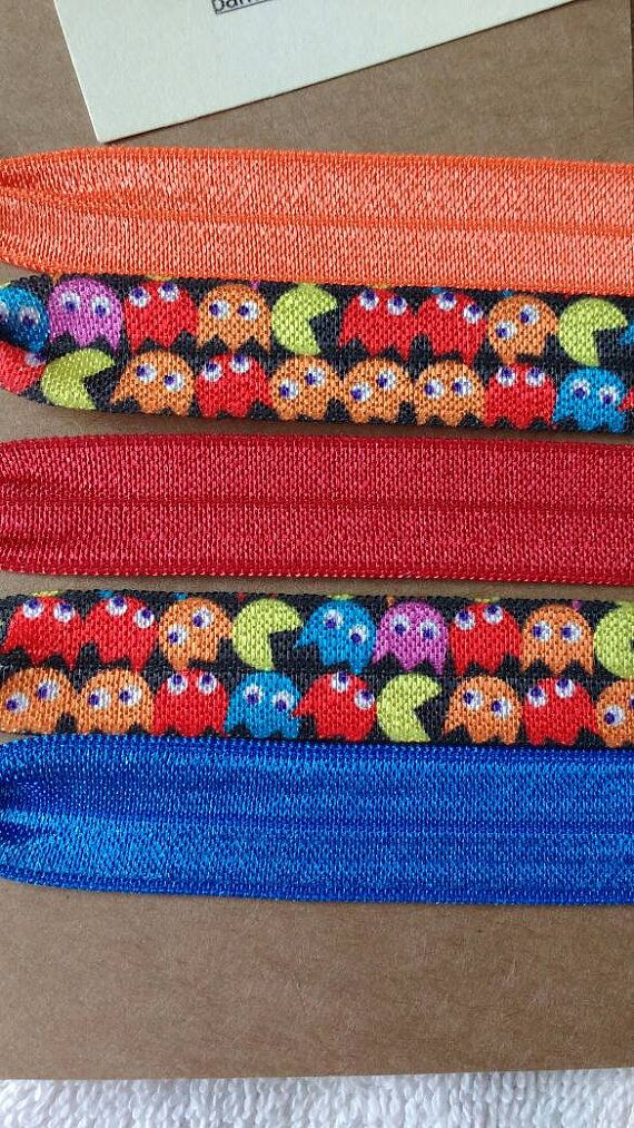 Check out this item in my Etsy shop https://www.etsy.com/ca/listing/386119470/hair-ties-pacman
