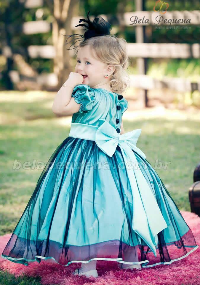 Vestido azul infantil                                                                                                                                                      Mais