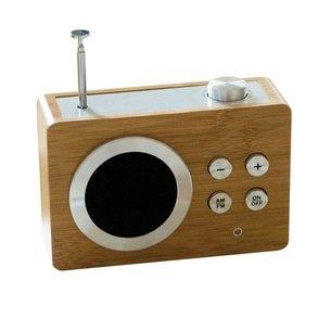 Mini Wooden Dolmen Radio by Lexon