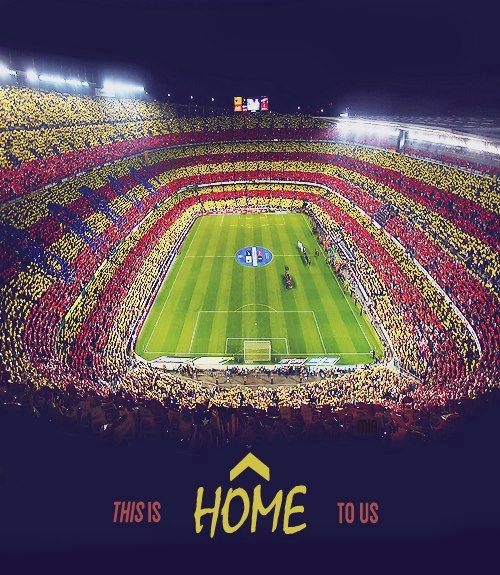 Champions League Football, Nou Camp, Barcelona, Spain.
