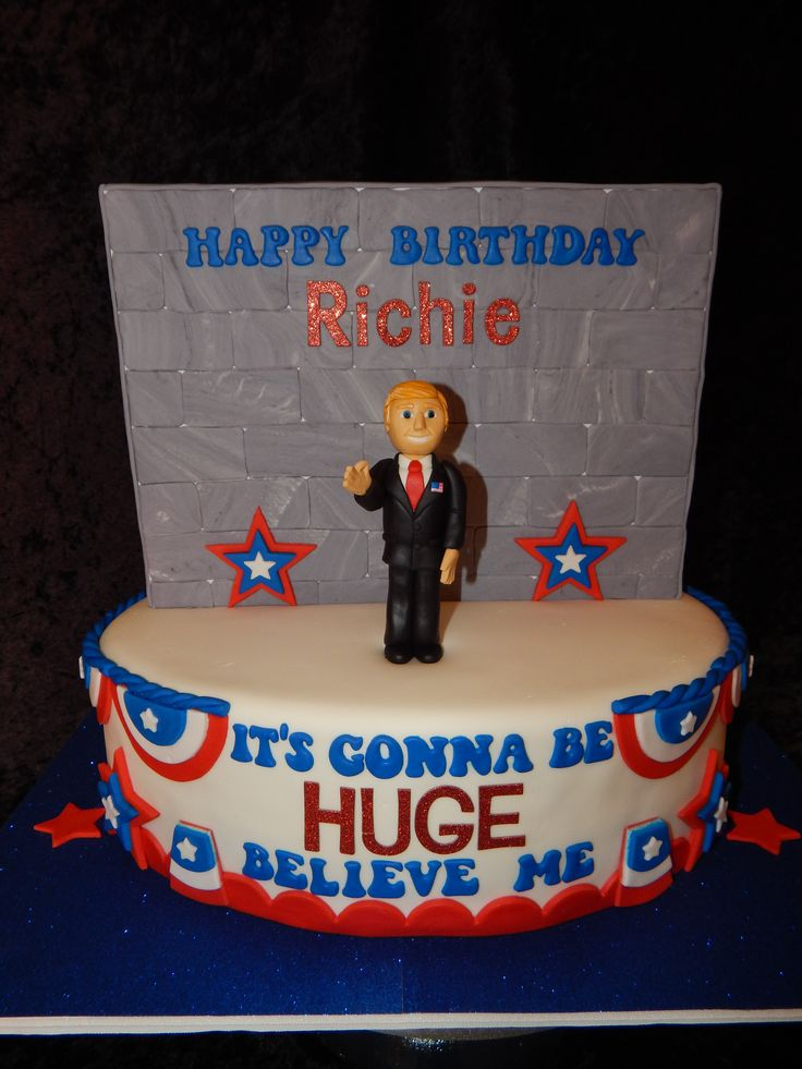 Donald Trump birthday cake by Little Cakes on the Prairie in Negley, Ohio.
