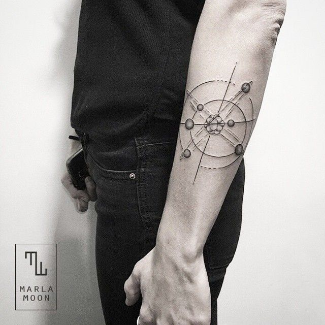 30 Scientific Atomic Tattoo Designs and Ideas – Secrets of The Universe