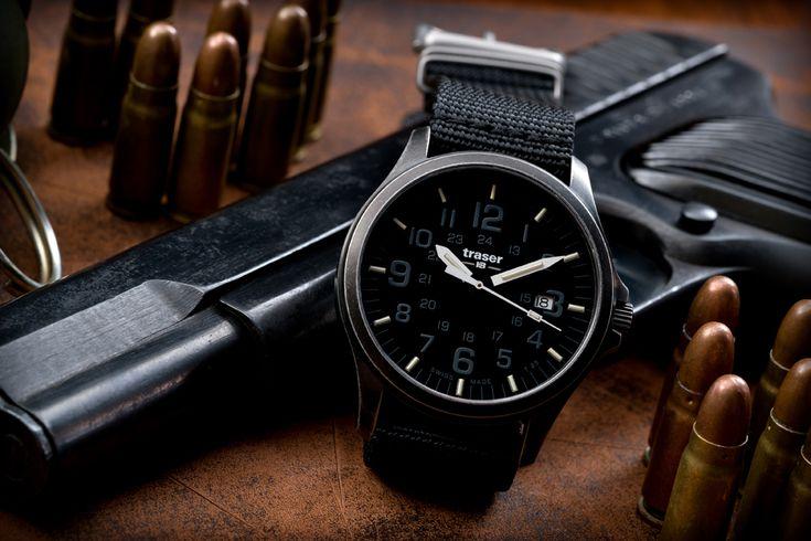 Военные часы с тритиевой подсветкой Traser P67 Officer Pro ...