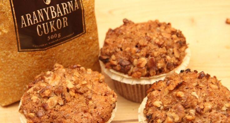 Almás-diós muffin recept