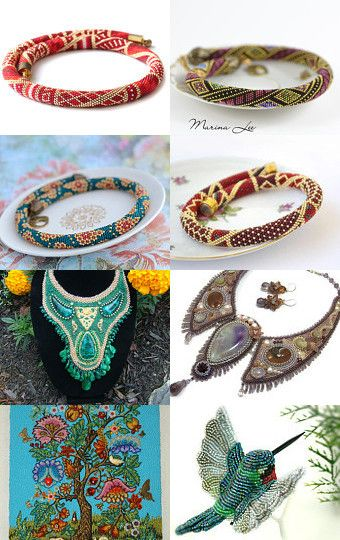My favorite artists by Victoria Beads on Etsy--Pinned with TreasuryPin.com