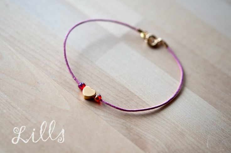 14k Simple Heart Pink (proj. Lills), do kupienia w DecoBazaar.com