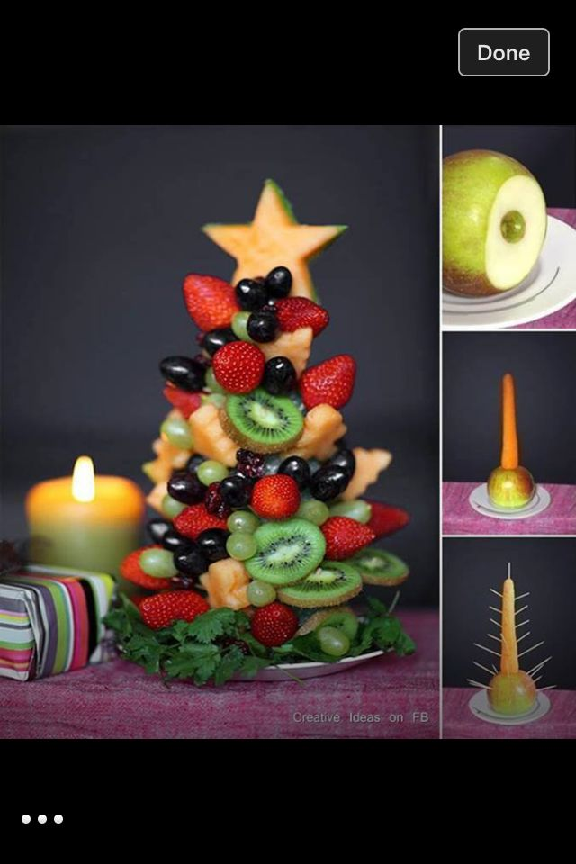Fruit tree for Christmas dinner