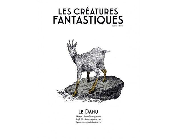 Quand les Førtifem revisitent les créatures légendaires (ici le Dahu), en version premium (chromolithographie).