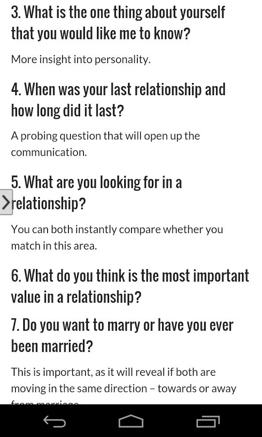 10 speed dating questions