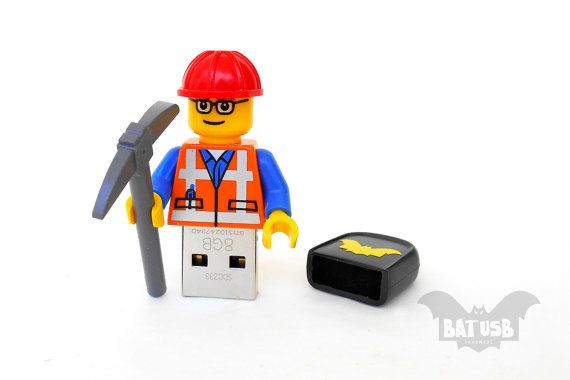 Lego worker usb 8/16/32/64GB  Memory Stick  Lego® by BatLab