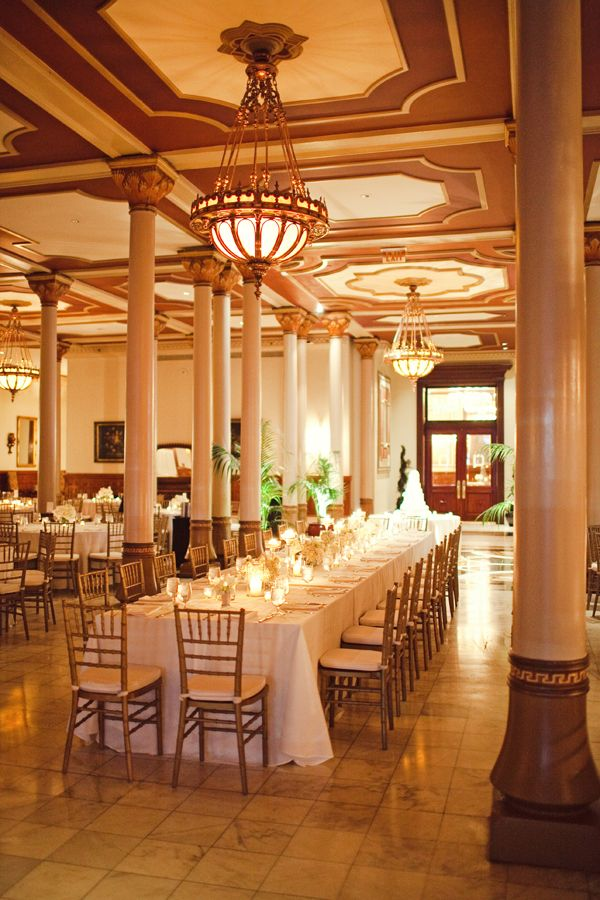 Elegant Wedding Reception At The Driskill Hotel In Austin Texas Photo By