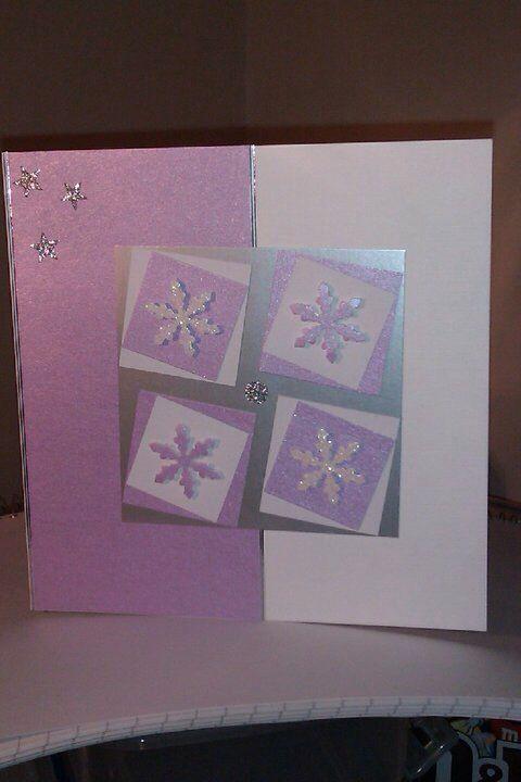 Purple snowflakes card