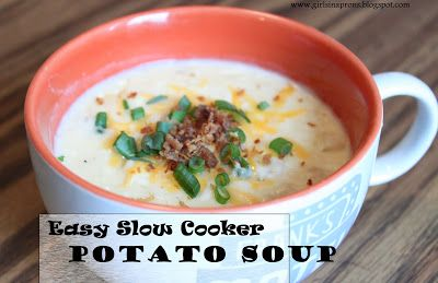 Slow cooker potato soup. Yum!