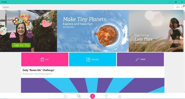 PicsArt app brings brand new Tiny Planet Effect and Discover Artists section on Windows 10 Mobile and PC