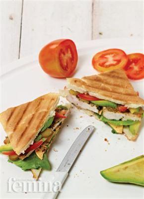 Femina.co.id: Chicken Avocado Panini #resep #menudiet
