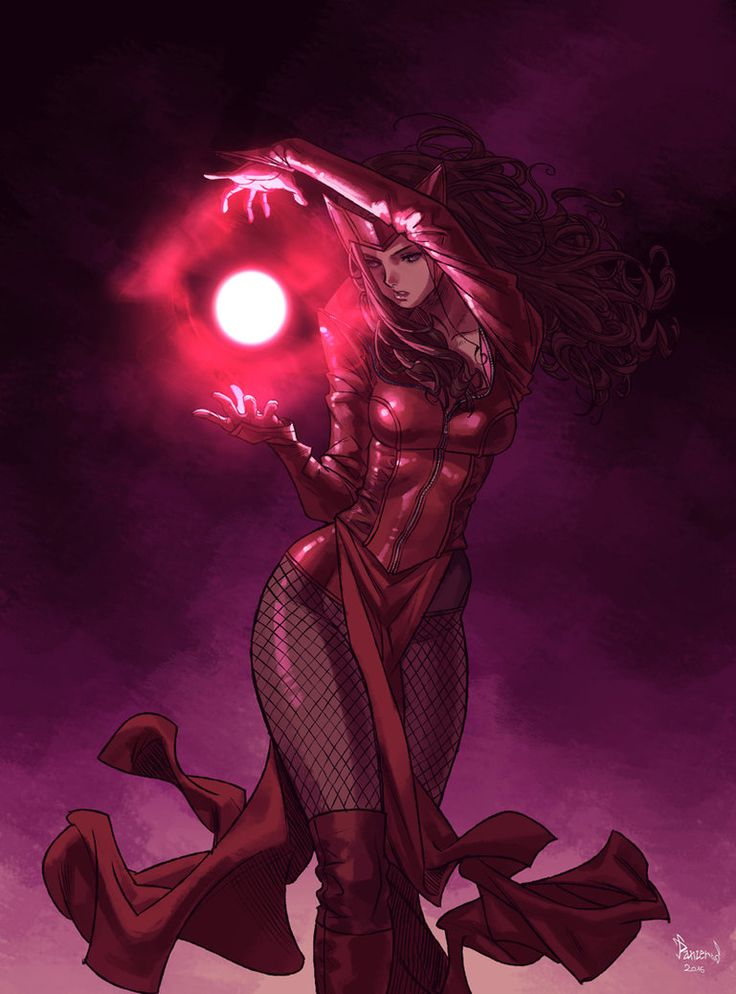 UNCANNY AVENGERS Sketch- SCARLET WITCH by PnzrK