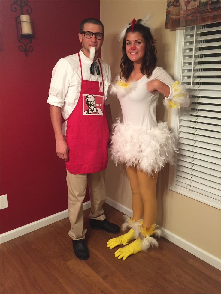 Colonel Sanders and his chicken, Halloween Couples costumes funny