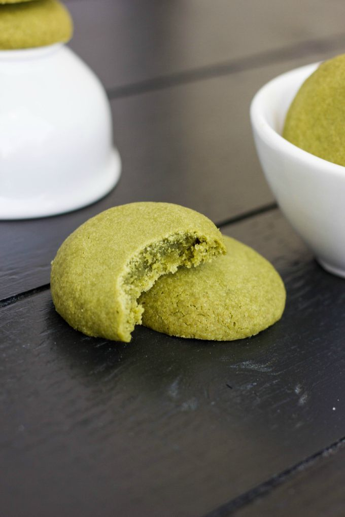 "Matcha Green Tea Cookies! No additional food colouring, so perfect ""Grinch"" cookies for Christmas."