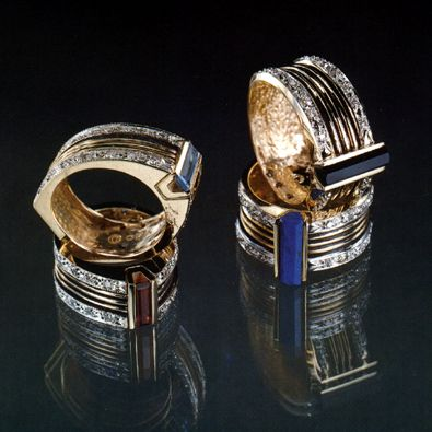 Erte Mixed Metals Ring
