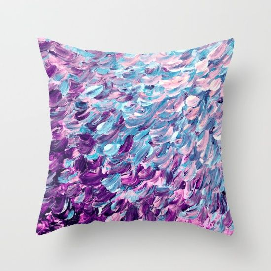 """Frosted Feathers"" by Ebi Emporium on @society6 decorative throw pillow cover"