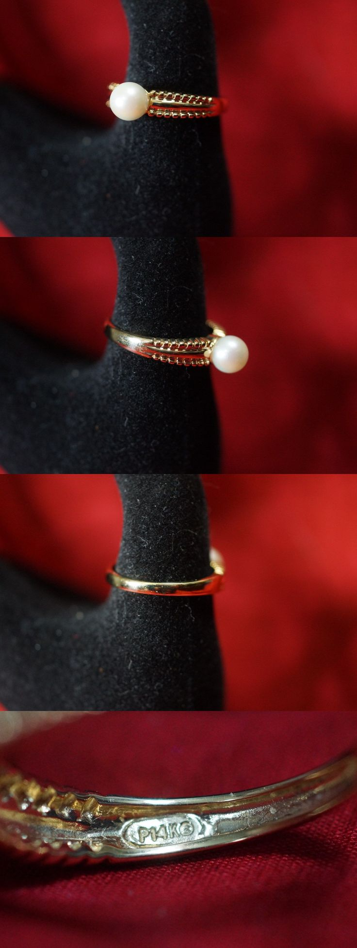 Pearl 11021: 14K Freshwater Cultured Pearl Ring Qvc New Size 10 -> BUY IT NOW ONLY: $74.99 on eBay!
