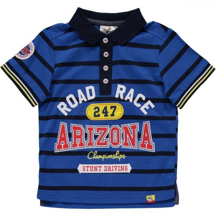Royal stripe road racer golfer Image 1