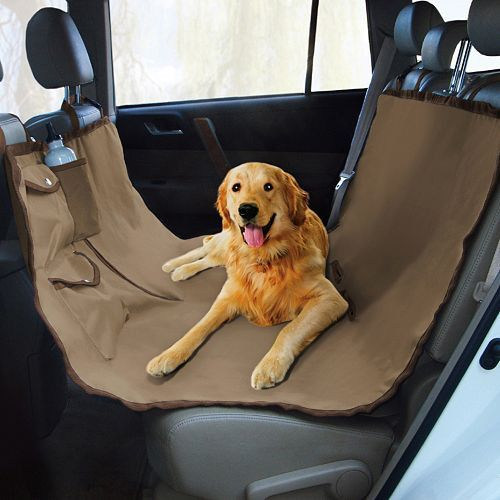 This waterproof Hammock Dog Seat Cover protects your car's upholstery while keeping your pet in the back. Protect your car seats from pet messes, spilled drinks and food, tipped plants and other poten