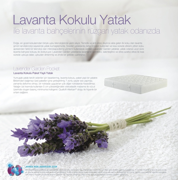 Lavender Garden Pocket: Lavanta kokulu yatak ile lavanta bahçelerinin rüzgarı yatak odanızda...